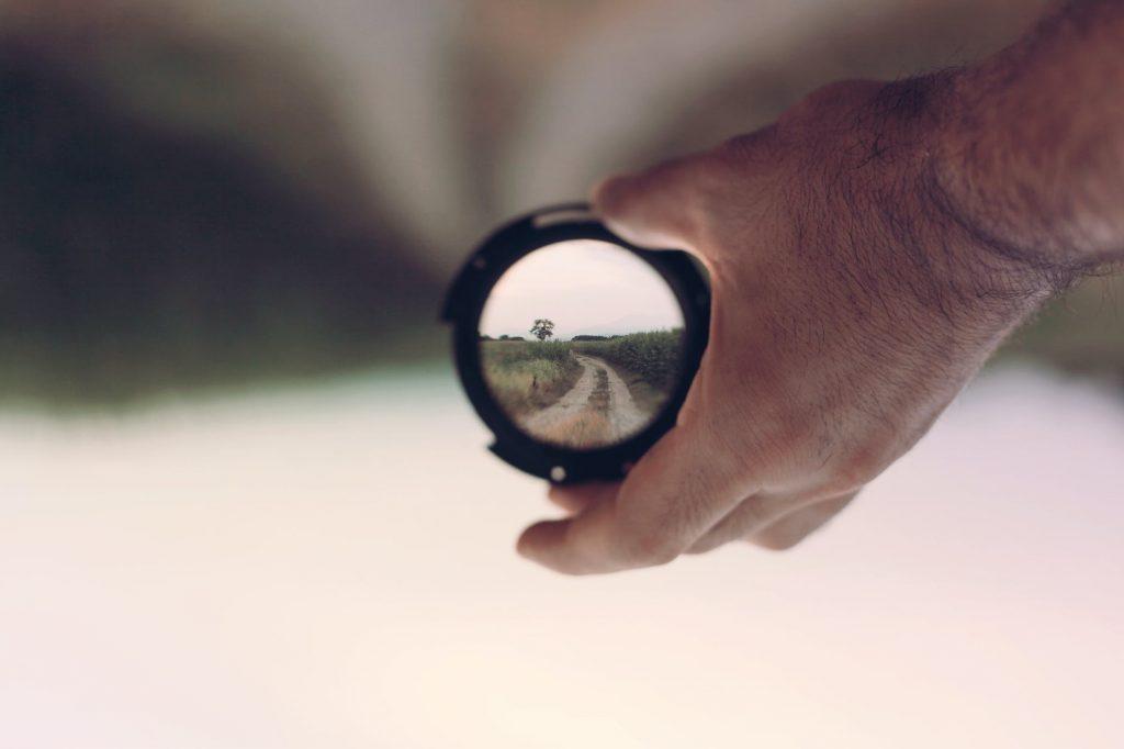 binocular country lane filter focus